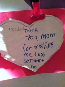 Love note for mom